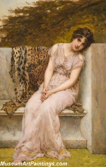 Classical Paintings Portrait Of A Young Woman Sitting On A