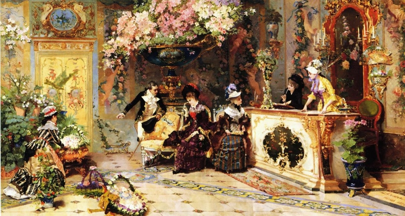 Classical Paintings The Flower Shop