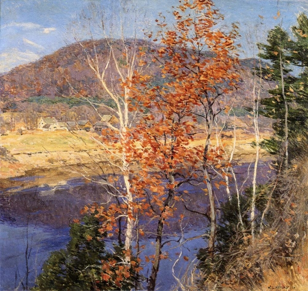 Closing Autumn by Willard Leroy Metcalf
