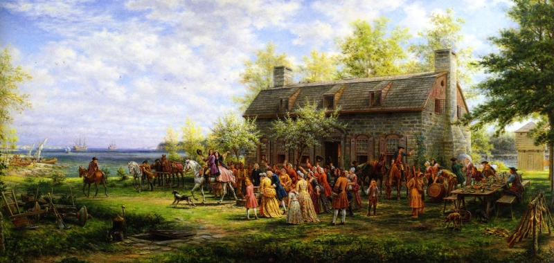 Colonial Wedding by Edward Lamson Henry