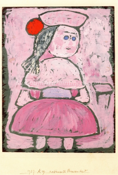 Costumed Peasant Girl by Paul Klee