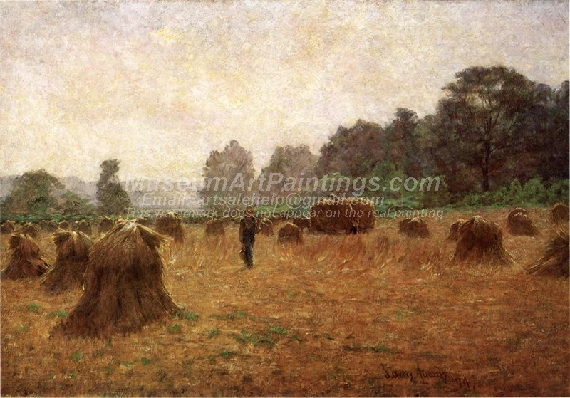 Countryside Oil Painting Wheat wain Afield