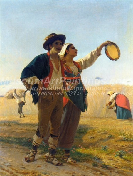 Countryside Oil Paintings Courtship