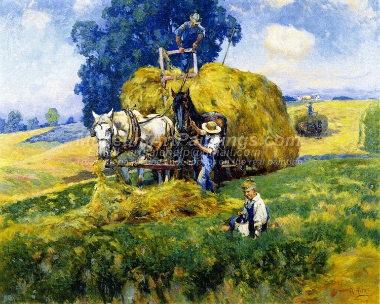 Countryside Oil Paintings Haying Time