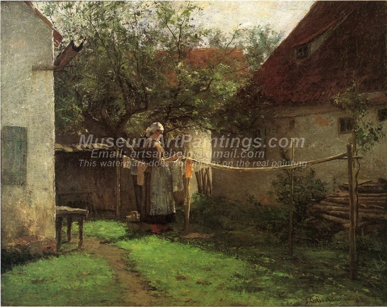 Countryside Oil Paintings Wash Day Bavaria