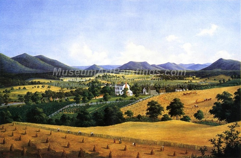 Countryside Paintings Bellevue The Lewis Homestead Salem Virginia
