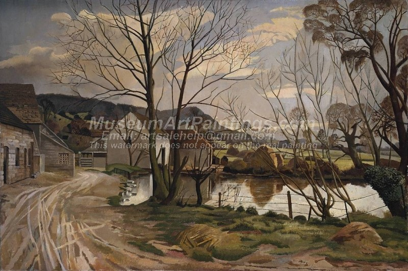 Countryside Paintings Farm Pond Leonard Stanley