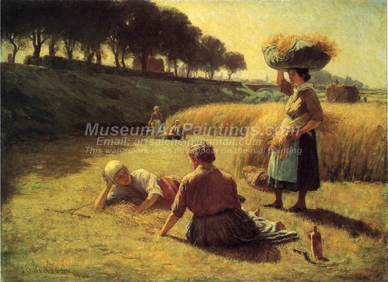 Countryside Paintings Gleaners at Rest