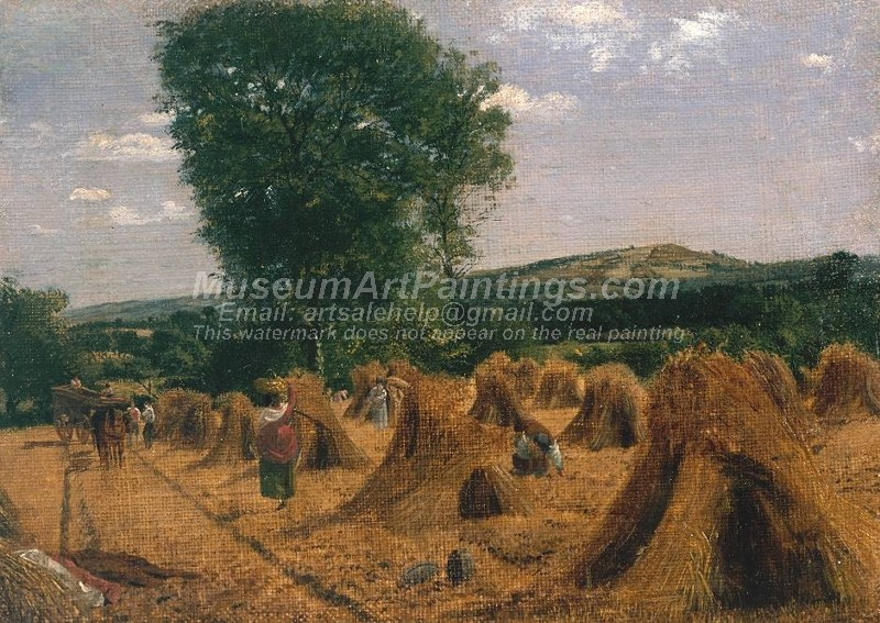 Countryside Paintings Harvest Field with Gleaners Haywood Herefordshire