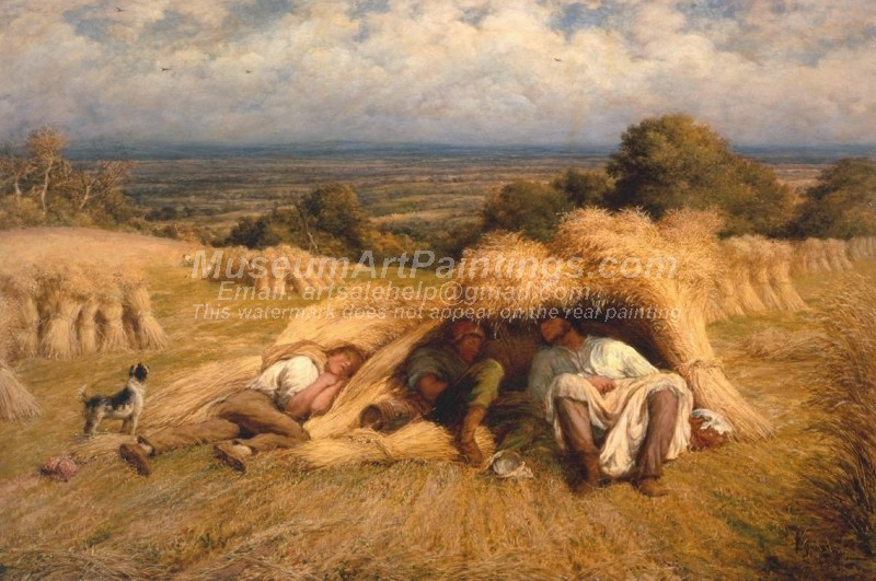 Countryside Paintings Reapers Noonday Rest