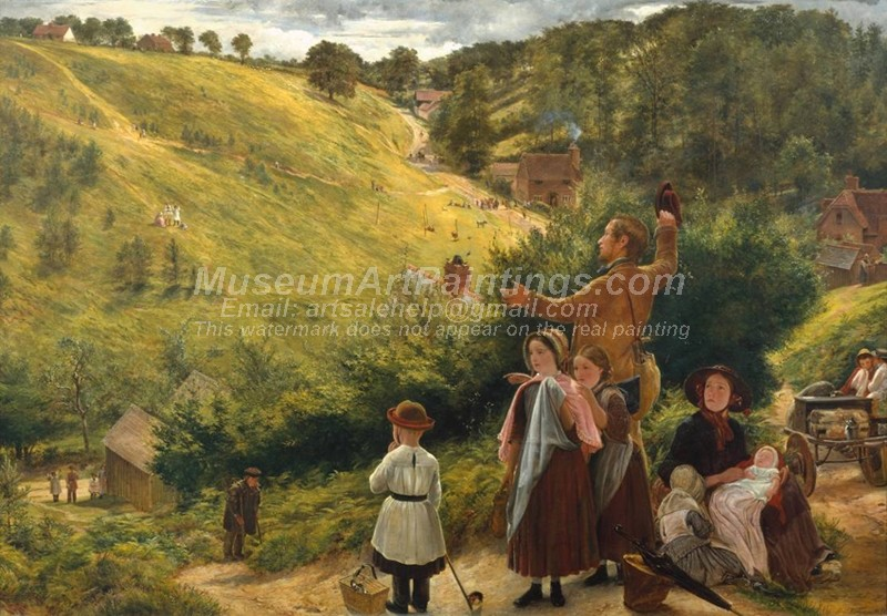 Countryside Paintings The Emigrants Last Sight of Home
