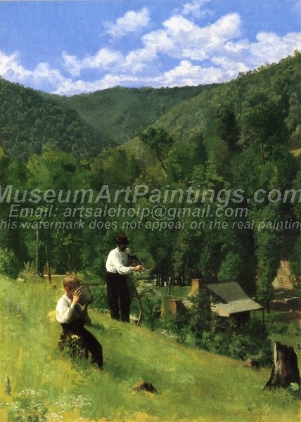 Countryside Paintings The Farmer and His Son at Harvesting