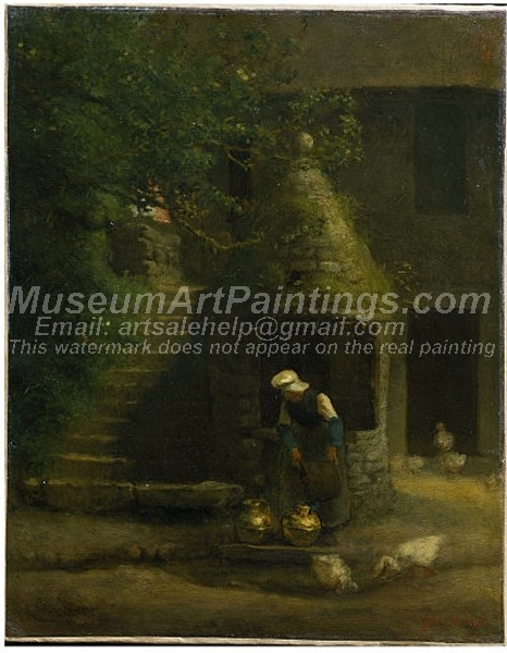 Countryside Paintings The Well at Gruchy