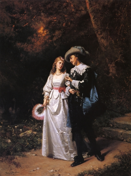 Courtship by Henry Mosler