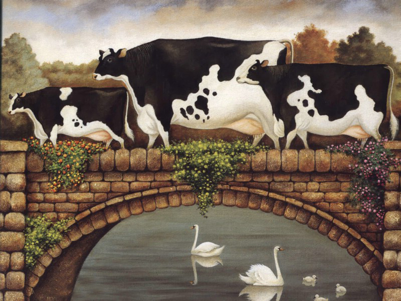Cow Oil Paintings 001
