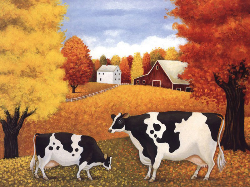 Cow Oil Paintings 007