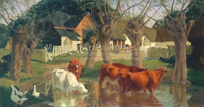 Cow Paintings Pastoral