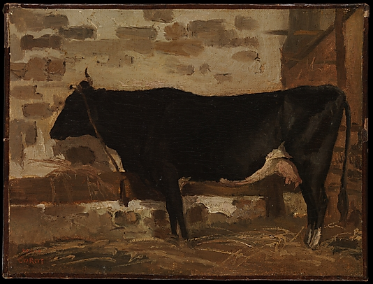 Cow in a Barn by Camille Corot