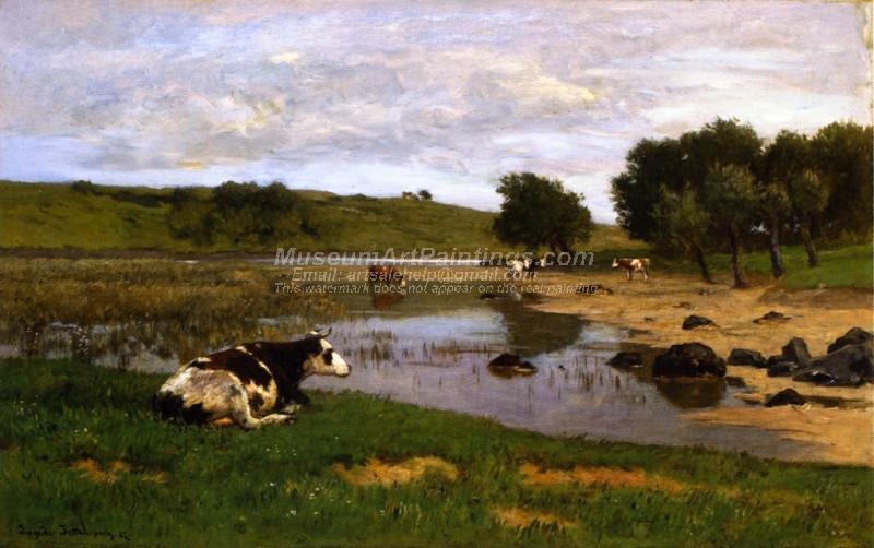 Cows Watering by Eugen Jettel