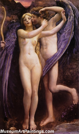 Cupid and Psyche Painting by Annie Swynnerton