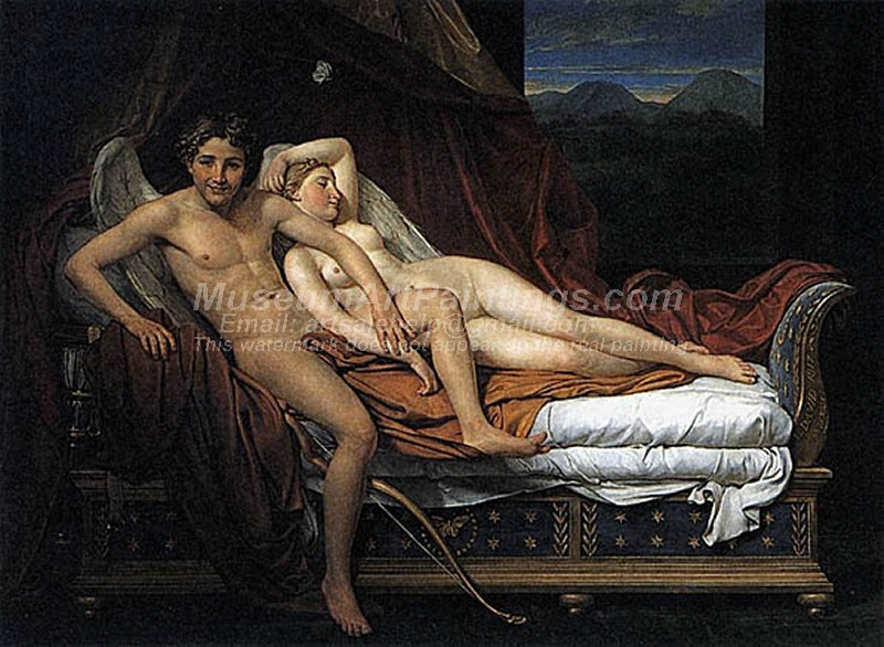 Cupid and Psyche Painting by Jacques Louis David