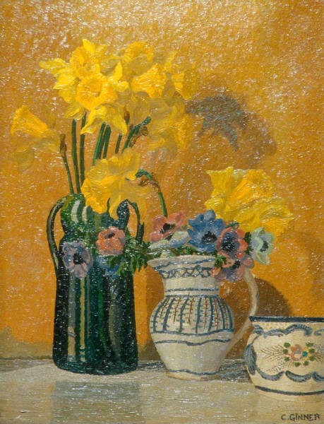 Daffodils and Anemones by Charles Ginner