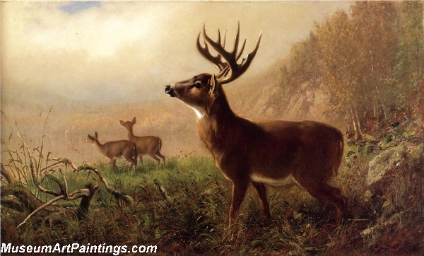 Deer Landscape Painting A Tempting Shot