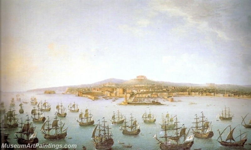 Departure of Charles de Bourbon for Spain seen from the sea Painting