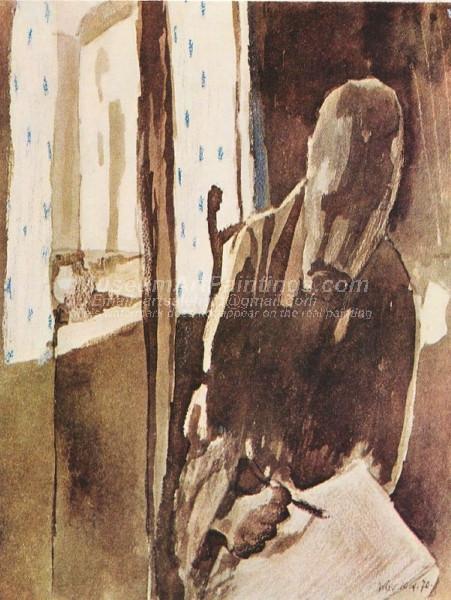 Der Zeichner am Fenster by Paul Klee