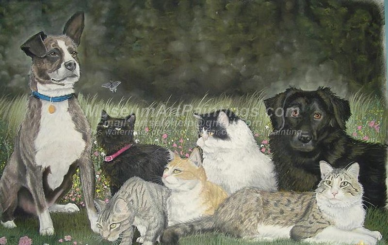 Dog Oil Paintings 004
