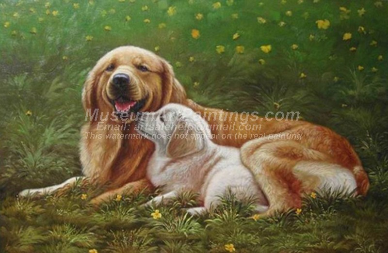 Dog Oil Paintings 010