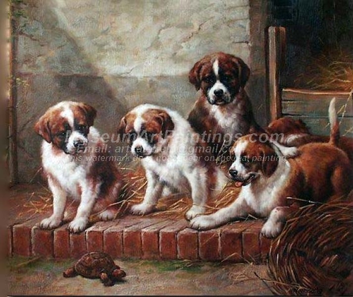 Dog Oil Paintings 011
