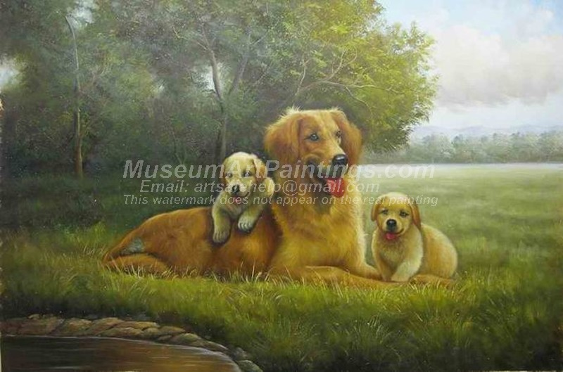 Dog Oil Paintings 024
