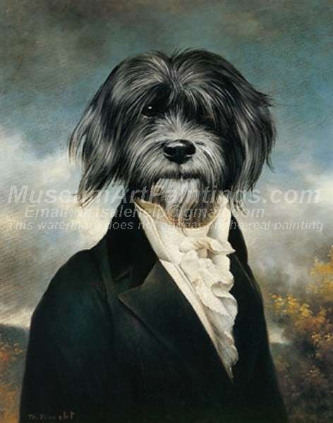 Dog Oil Paintings 026