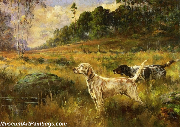 Dog Painting Glorious Autumn