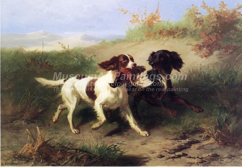 Dog Paintings Two Spaniels in a Landscape