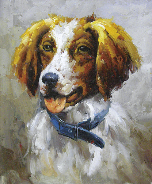 Dog Portraits Oil Painting 001
