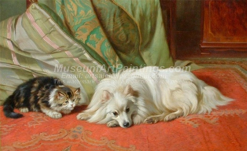 Dog and Cat Paintings Come and Play