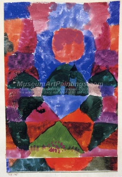 Ein Druck von Tegernsee by Paul Klee