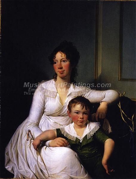 Elisabeth Henriette Bruun de Neergaard with her Eldest Son