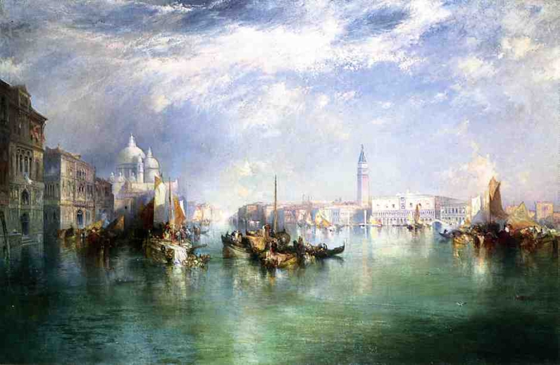 Entrance to the Grand Canal Venice by Thomas Moran