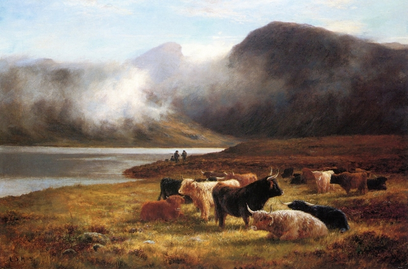 Evening in the Highlands by Louis Bosworth Hurt