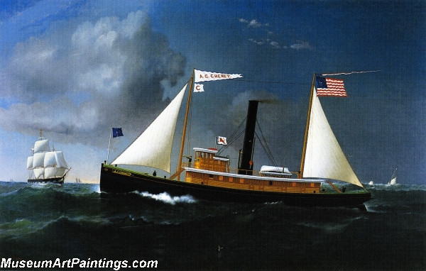 Famous Boat Paintings The AC Cheney