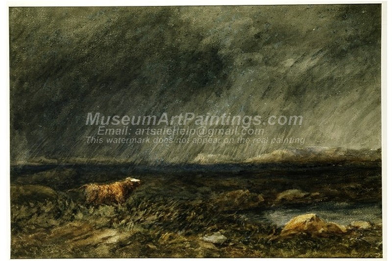 Famous Bull Paintings A Bull in a Storm on a Moor