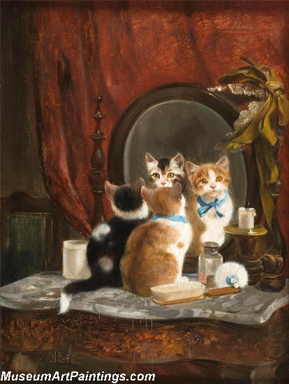 Famous Cat Paintings Mirror Mirror