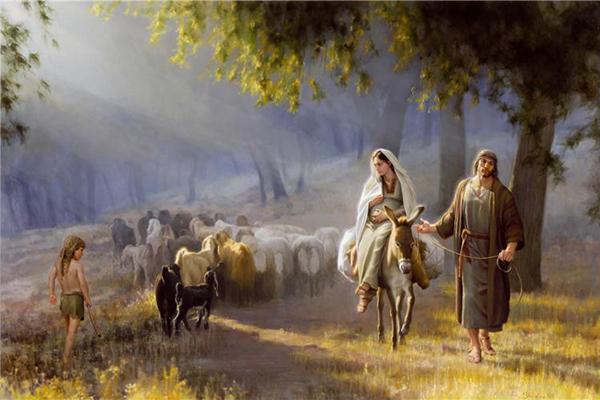 Famous Christmas Paintings Journey to Bethlehem