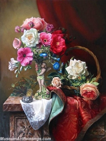 Famous Classical Flower Oil Paintings 008