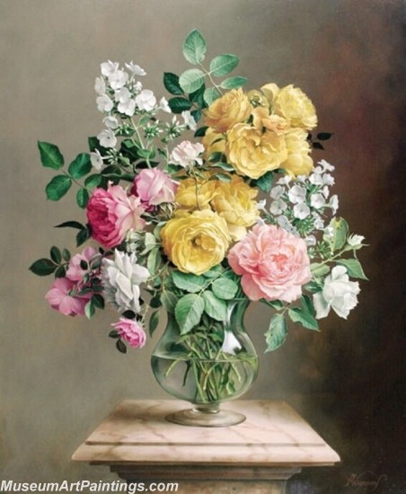 Famous Classical Flower Oil Paintings 009