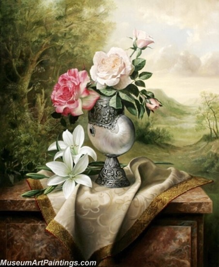 Famous Classical Flower Oil Paintings 013