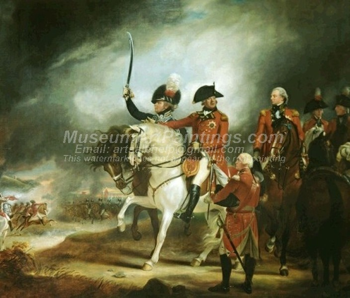 Famous Classical Paintings George III at a Review